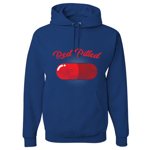Image of PrintTech Adult Hoodie S / Royal RED PILLED | Adult Hoodie