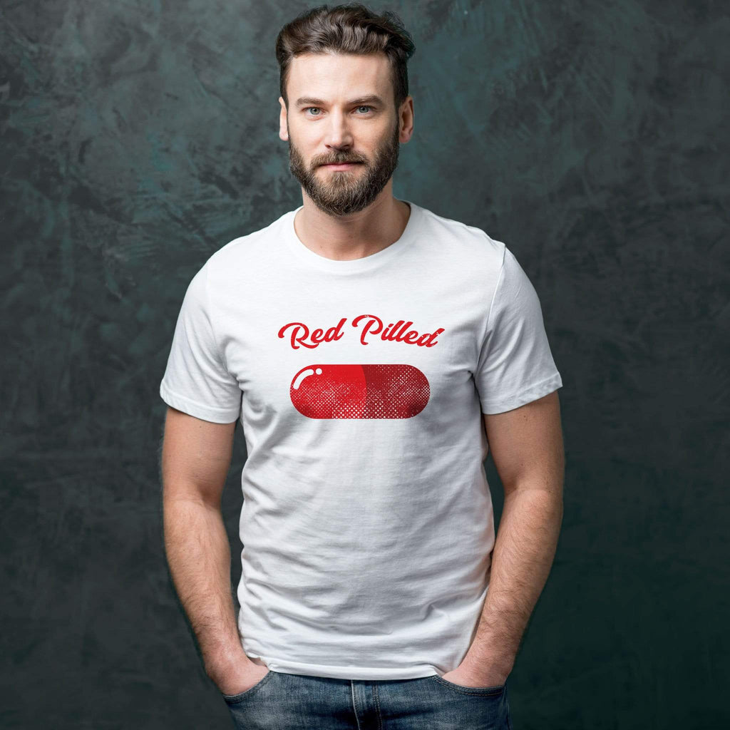 PrintTech Adult Unisex T-Shirt S / White RED PILLED | Adult Unisex T-Shirt