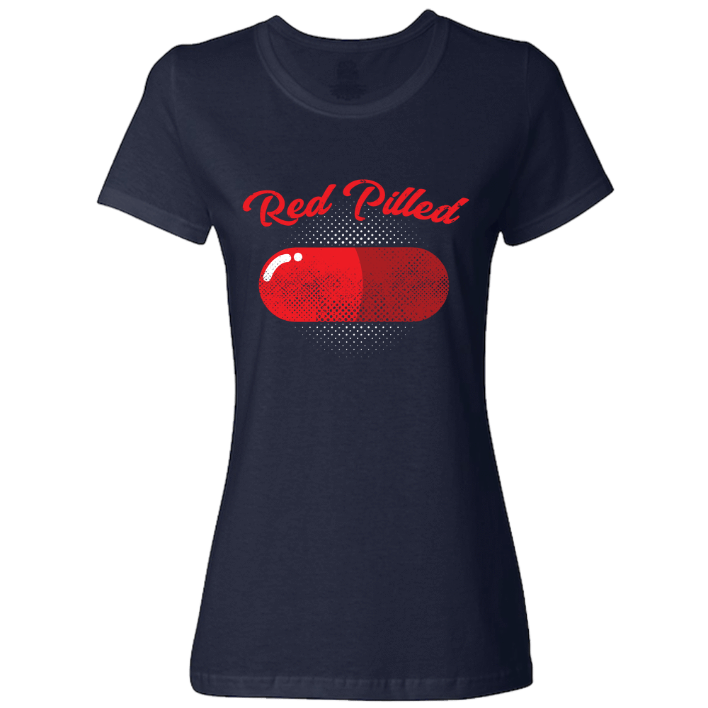 PrintTech Ladies Classic Tees S / Navy RED PILLED | Ladies Classic Tees