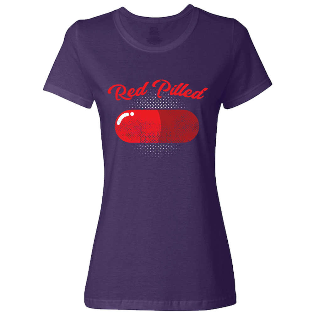 PrintTech Ladies Classic Tees S / Deep Purple RED PILLED | Ladies Classic Tees