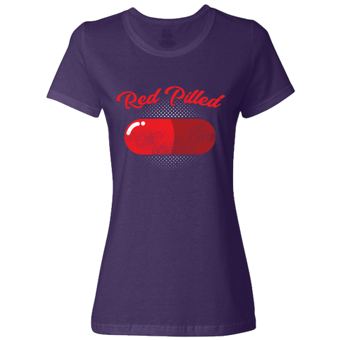 Image of PrintTech Ladies Classic Tees S / Deep Purple RED PILLED | Ladies Classic Tees