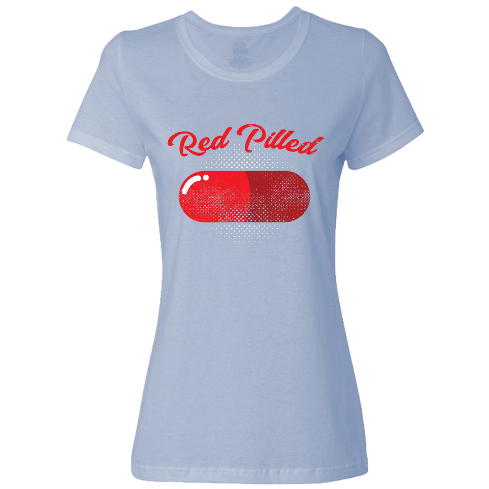 PrintTech Ladies Classic Tees S / Light Blue RED PILLED | Ladies Classic Tees
