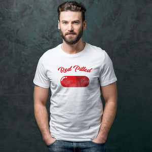 PrintTech Sublimated Unisex T-Shirt M / White RED PILLED | Sublimated Unisex T-Shirt