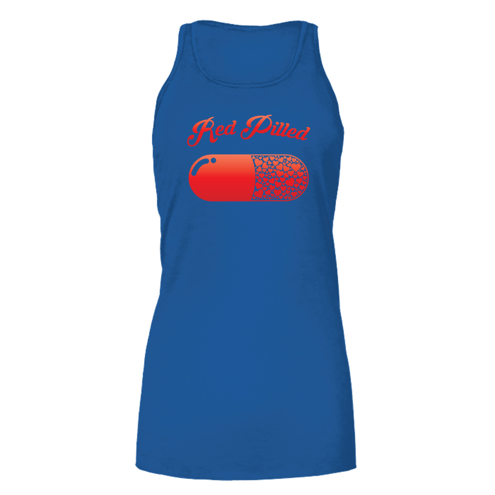 PrintTech Bella Flowy Tank S / Royal RED PILLED WITH LOVE | Bella Flowy Tank
