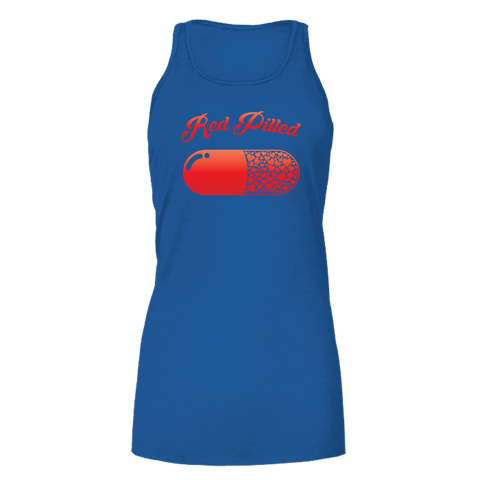 Image of PrintTech Bella Flowy Tank S / Royal RED PILLED WITH LOVE | Bella Flowy Tank