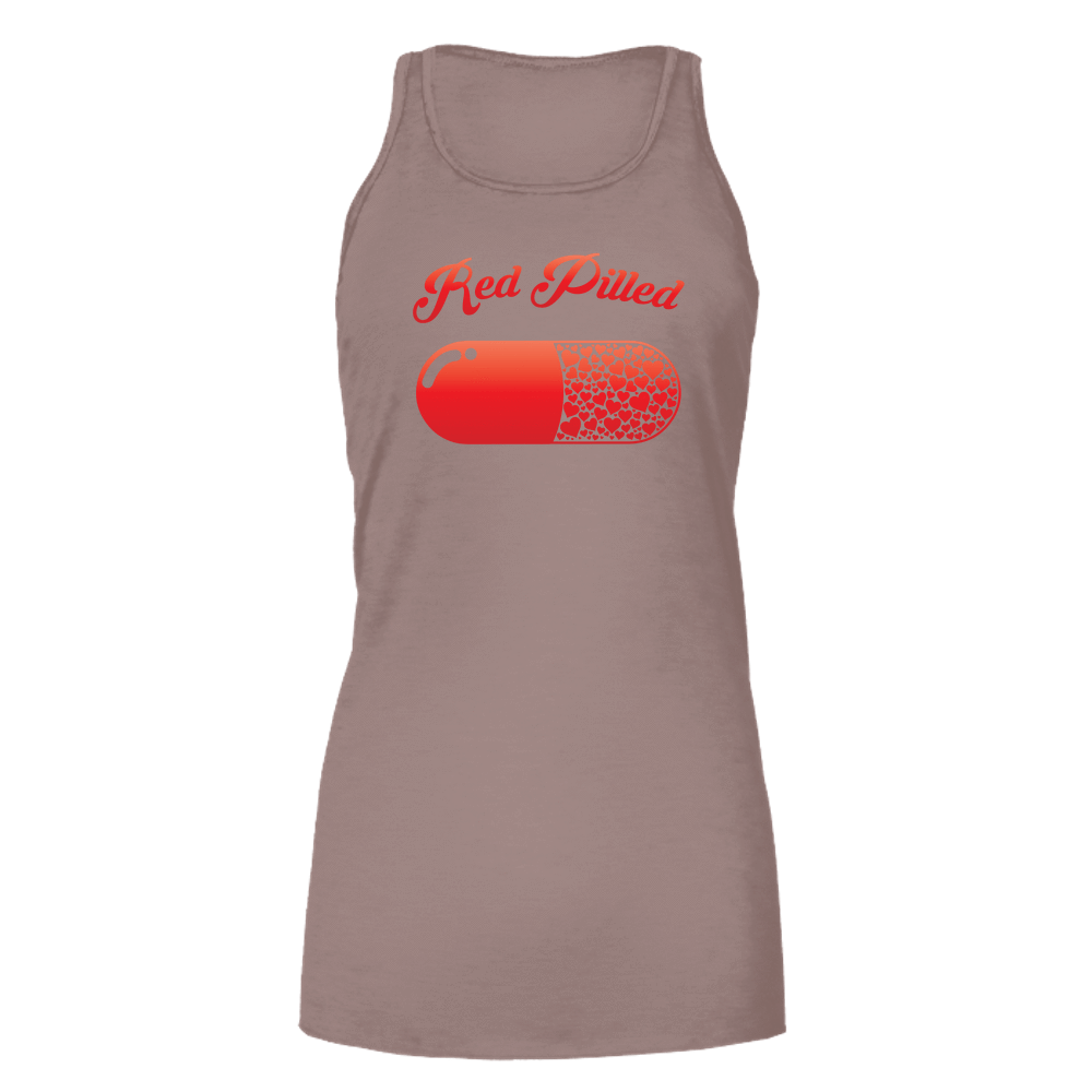 PrintTech Bella Flowy Tank S / Light Brown RED PILLED WITH LOVE | Bella Flowy Tank