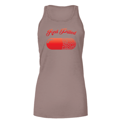 Image of PrintTech Bella Flowy Tank S / Light Brown RED PILLED WITH LOVE | Bella Flowy Tank