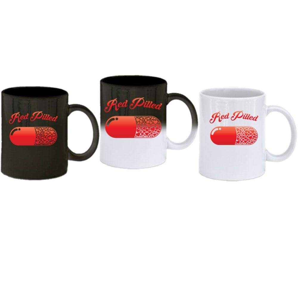 PrintTech Coffee Mug - Color Change Sublimated Only RED PILLED WITH LOVE | Coffee Mug - Color Change
