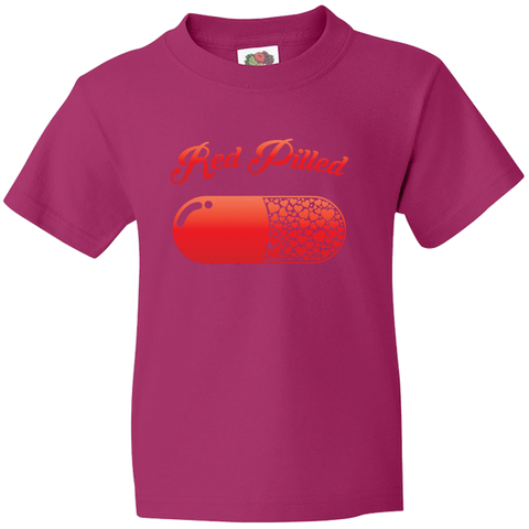 Image of PrintTech Youth Tee YS / Cyber Pink RED PILLED WITH LOVE | Youth Tee