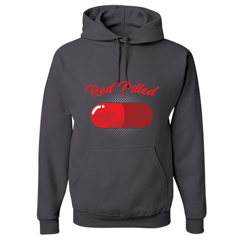 PrintTech Youth Hoodie YS / Charcoal Grey RED PILLED | Youth Hoodie