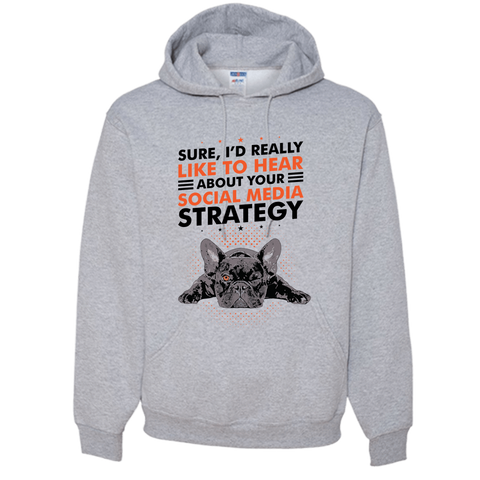 Image of PrintTech Adult Hoodie S / Athletic Heather SOCIAL MEDIA STRATEGY | Adult Hoodie
