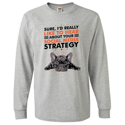 Image of PrintTech Adult Long Sleeve Tee S / Athletic Heather SOCIAL MEDIA STRATEGY | Adult Long Sleeve Tee