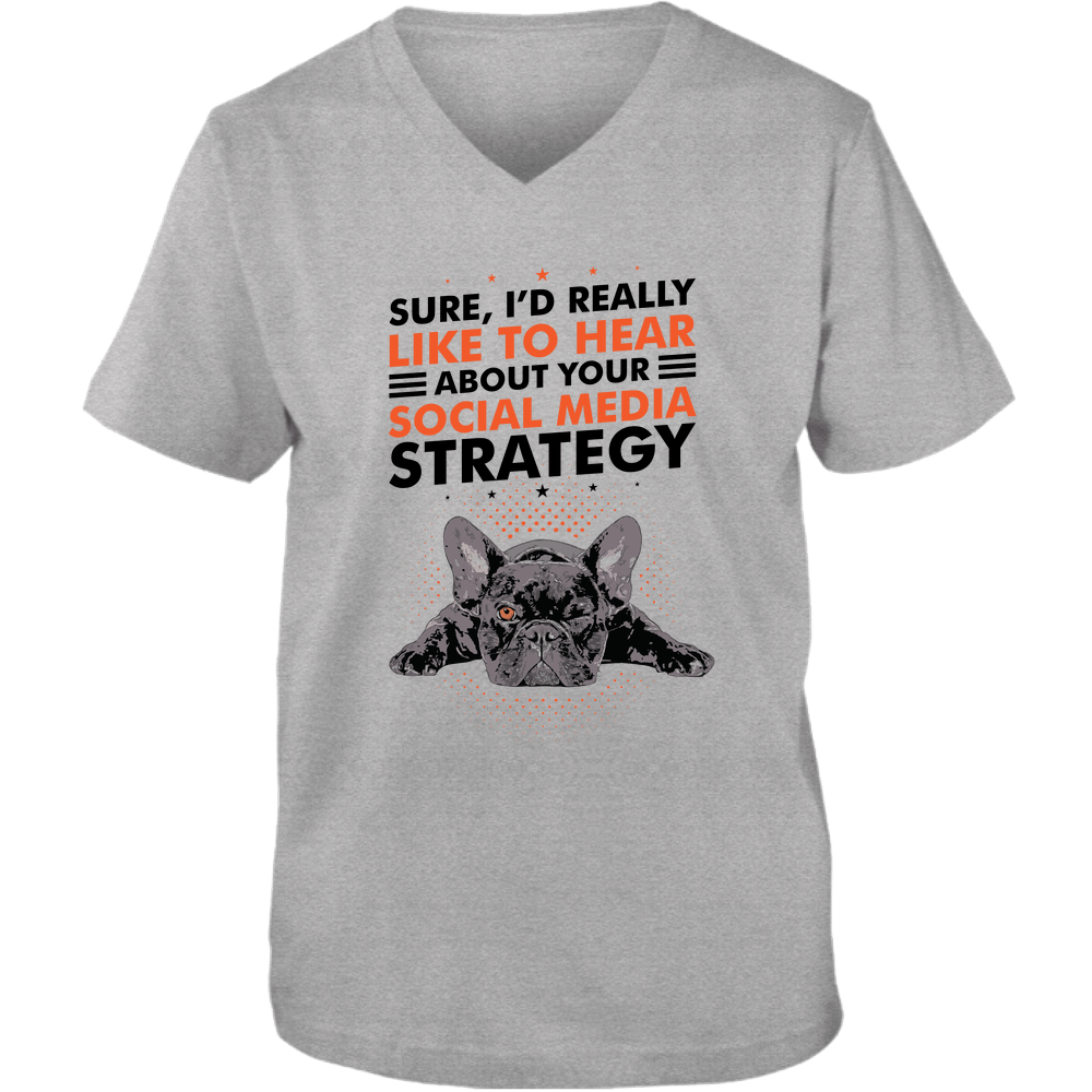 PrintTech Adult Unisex Vneck Tee S / Athletic Heather SOCIAL MEDIA STRATEGY | Adult Unisex Vneck Tee