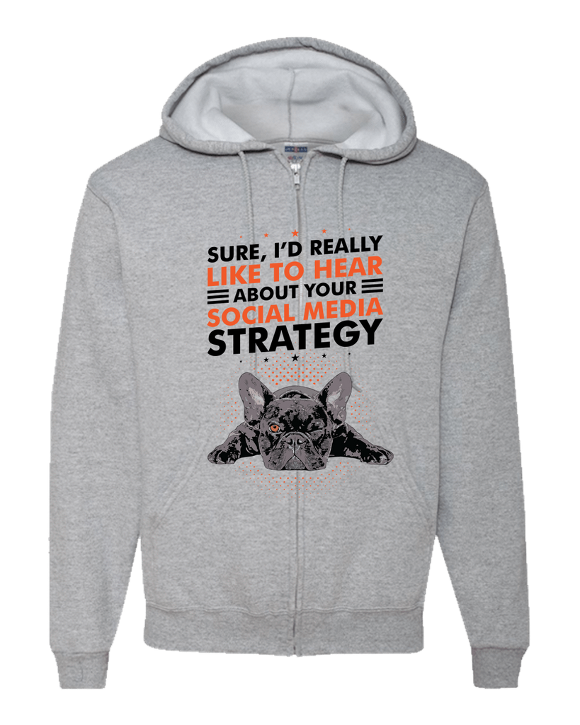 PrintTech Adult Zipper Hoodie S / Athletic Heather SOCIAL MEDIA STRATEGY | Adult Zipper Hoodie