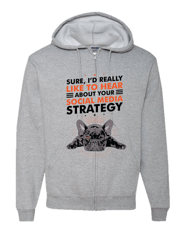 Image of PrintTech Adult Zipper Hoodie S / Athletic Heather SOCIAL MEDIA STRATEGY | Adult Zipper Hoodie