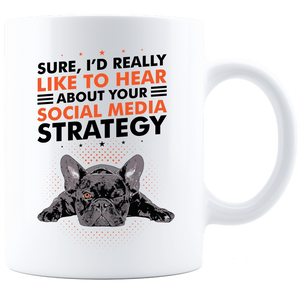 PrintTech Coffee Mug - White Sublimated Only 11oz / White SOCIAL MEDIA STRATEGY | Coffee Mug - White
