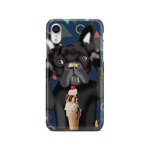 wc-fulfillment Phone Case iPhone Xr The Innocent French Bulldog | Blue Phone Case