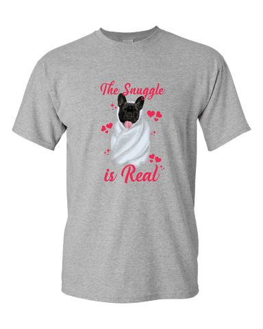 Image of PrintTech Adult Unisex T-Shirt S / Athletic Heather The Snuggle Is Real | Adult Unisex T-Shirt