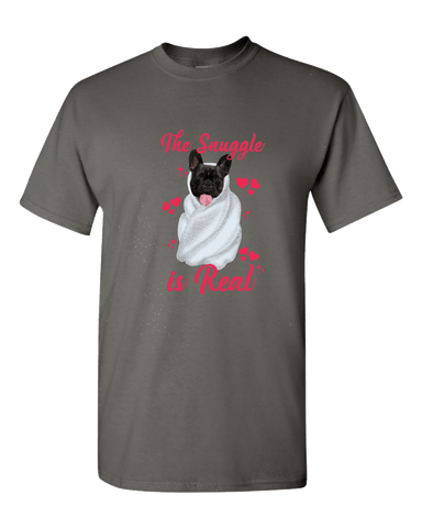 Image of PrintTech Adult Unisex T-Shirt S / Charcoal Grey The Snuggle Is Real | Adult Unisex T-Shirt