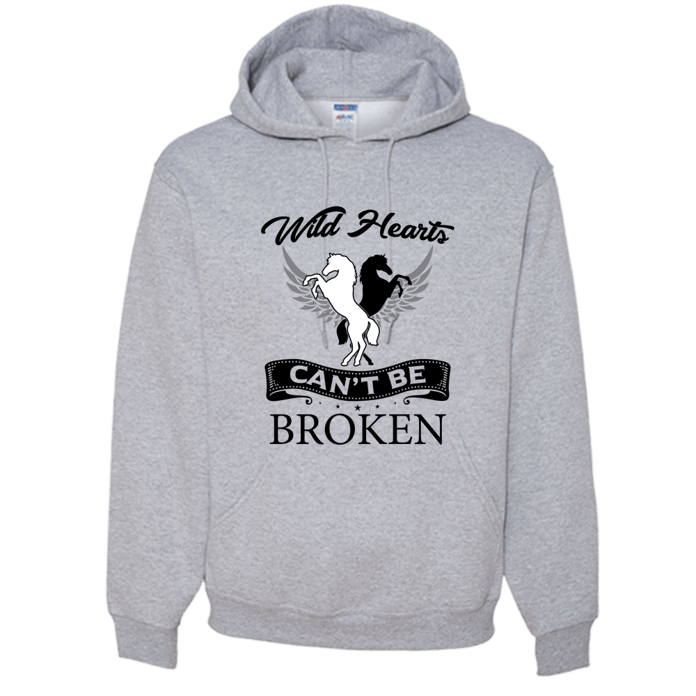PrintTech Adult Hoodie S / Athletic Heather Wild Hearts can't be broken | Adult Hoodie