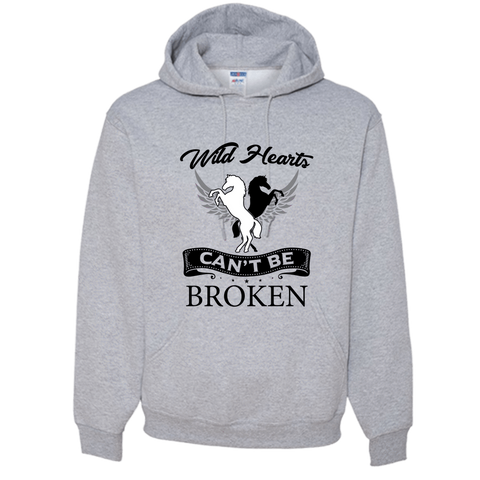 Image of PrintTech Adult Hoodie S / Athletic Heather Wild Hearts can't be broken | Adult Hoodie