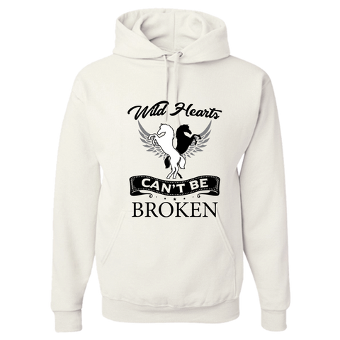 Image of PrintTech Adult Hoodie S / White Wild Hearts can't be broken | Adult Hoodie