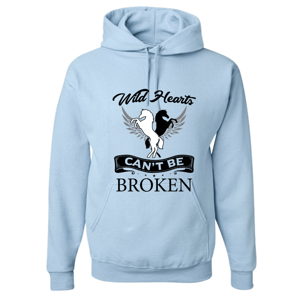 PrintTech Adult Hoodie S / Light Blue Wild Hearts can't be broken | Adult Hoodie