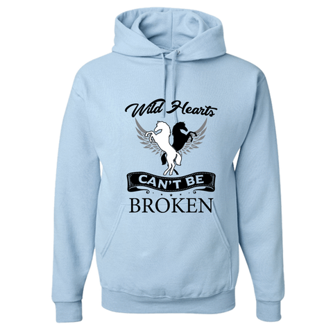 Image of PrintTech Adult Hoodie S / Light Blue Wild Hearts can't be broken | Adult Hoodie
