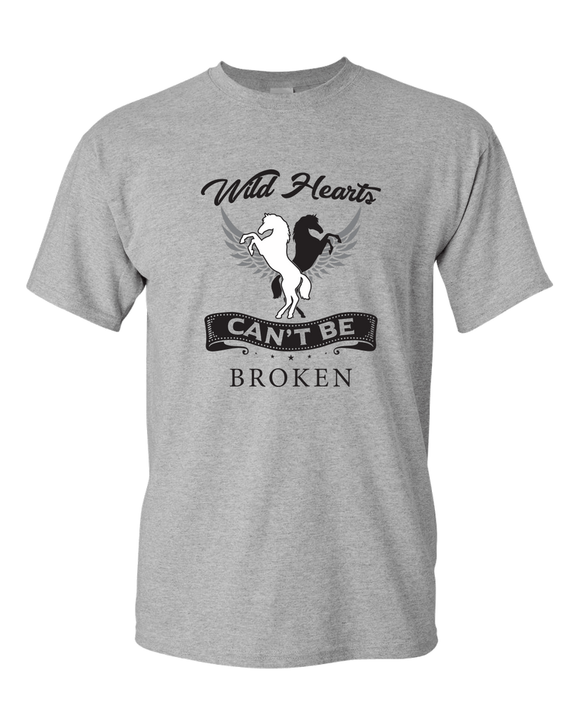 PrintTech Adult Unisex T-Shirt S / Athletic Heather Wild Hearts Can't Be Broken | Adult Unisex T-Shirt
