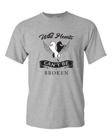 Image of PrintTech Adult Unisex T-Shirt S / Athletic Heather Wild Hearts Can't Be Broken | Adult Unisex T-Shirt