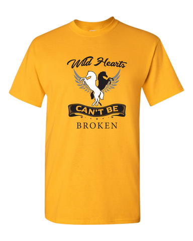 Image of PrintTech Adult Unisex T-Shirt S / Gold Wild Hearts Can't Be Broken | Adult Unisex T-Shirt