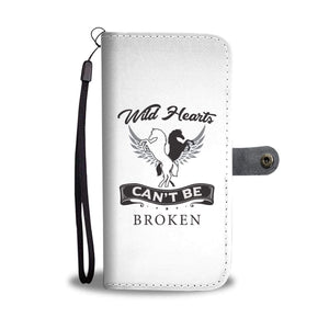 wc-fulfillment Wallet Case iPhone X / Xs Wild Hearts Can't Be Broken | Phone Wallet Case