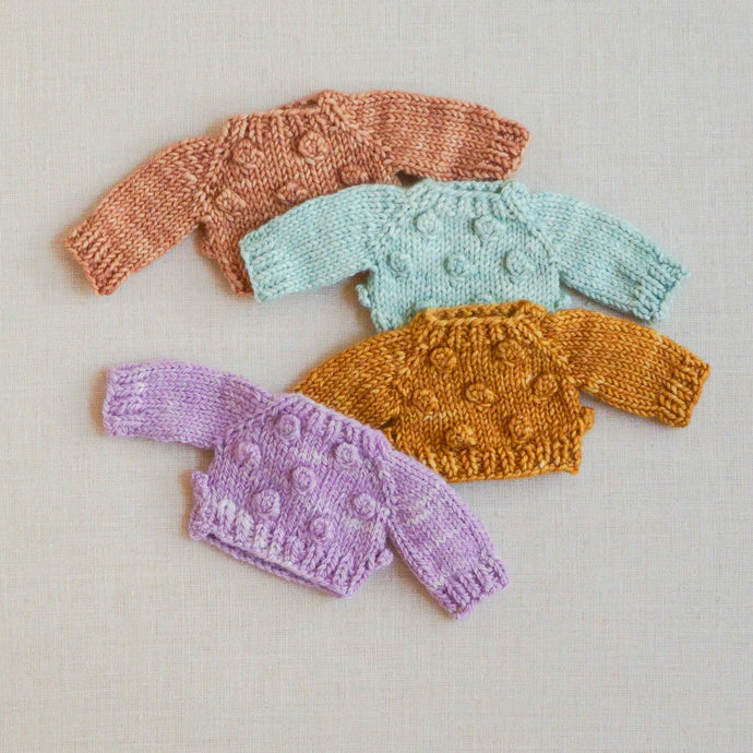 Hand-knit Bobble Sweaters