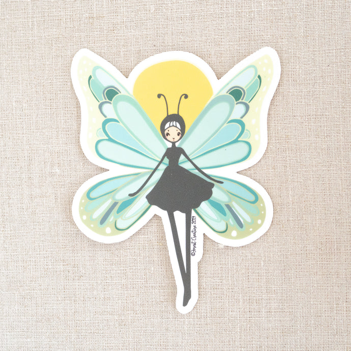 Butterfly Girl Sticker