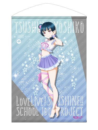 【Love Live! Sunshine!!】Yoshiko Tsushima B2Size Wall Scroll Pajamas Ver. 【COSPA】