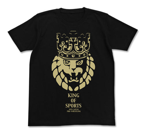 【New Japan Pro Wrestling】Lion Mark Crown T-shirts/Black 【COSPA】