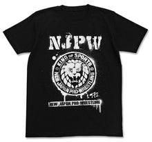 Load image into Gallery viewer, 【New Japan Pro Wrestling】NJPW Stencil Lion Mark T-shirts/Black 【COSPA】