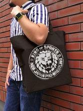 Load image into Gallery viewer, 【New Japan Pro Wrestling】NJPW Stencil Lion Mark Large Totebag/Black 【COSPA】
