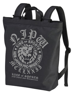 【New Japan Pro Wrestling】Lion Mark 2way Backpack/Black 【COSPA】