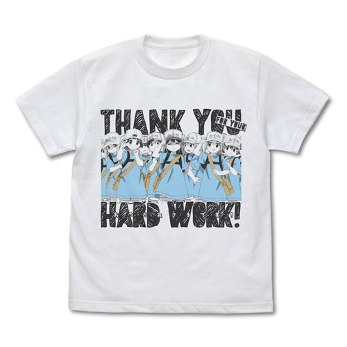 【Cells at Work!】Platelet 「Thank you for your Hard Work」 T-shirts/WHITE 【COSPA】