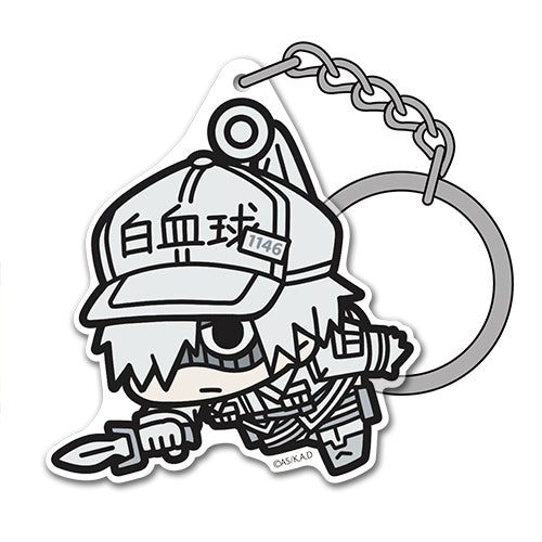 【Cells at Work!】White Blood Cell Acrylic TSUMAMARE Keychain 【COSPA】
