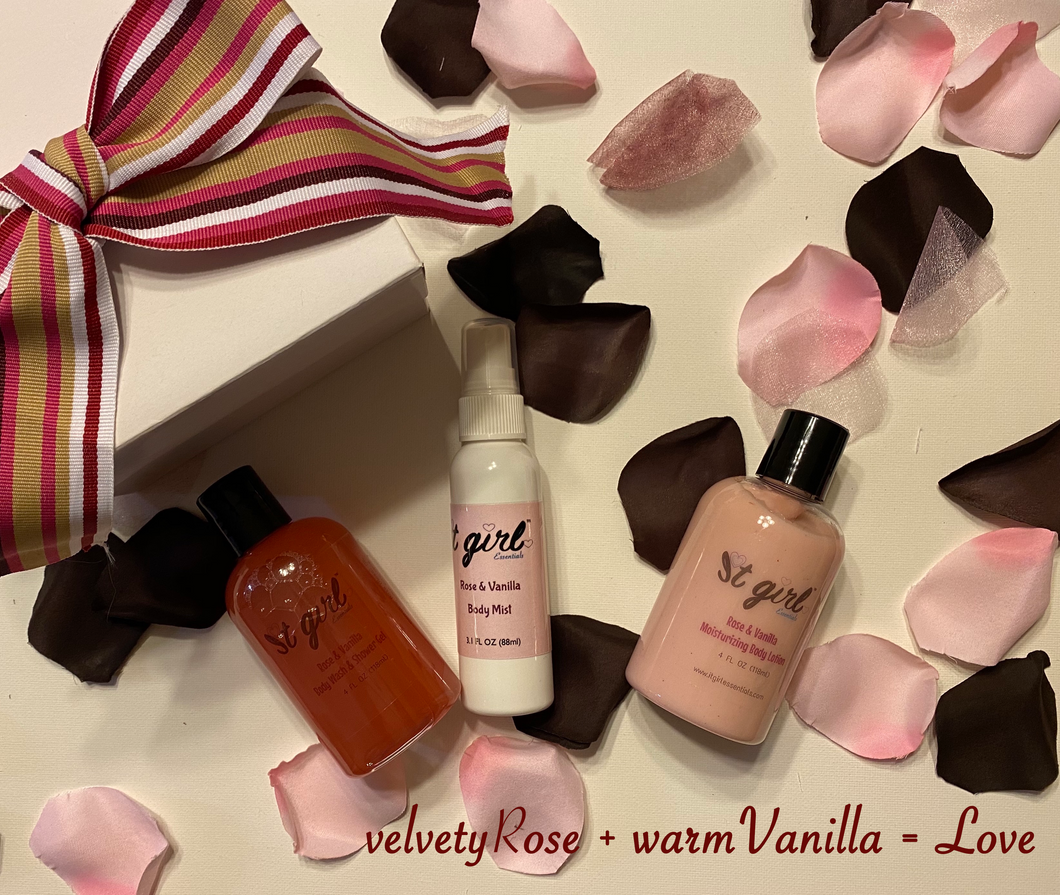 Rose & Vanilla Gift Set (New!)