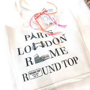Round Top Canvas Tote