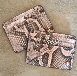 Snakeskin Card Case