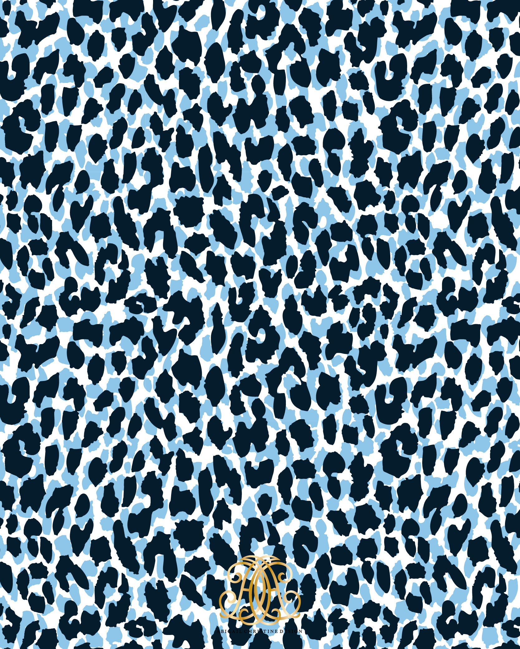 Spotted Leopard Navy Gift Wrap