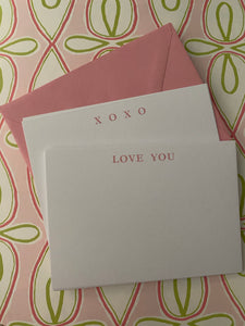 Love and XOXO Notes