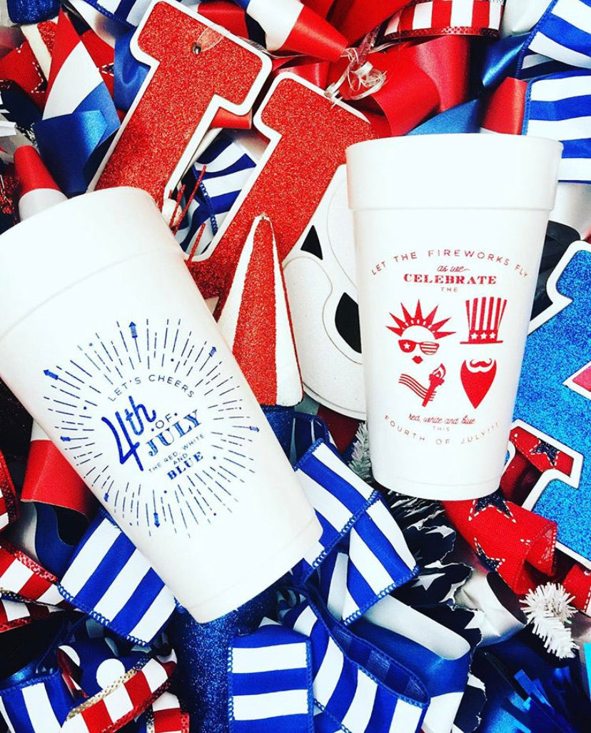 Fourth of July Cups