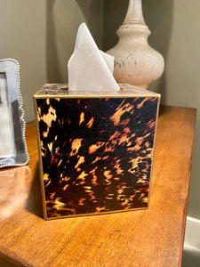 Tortoise Shell Tissue Box Cover