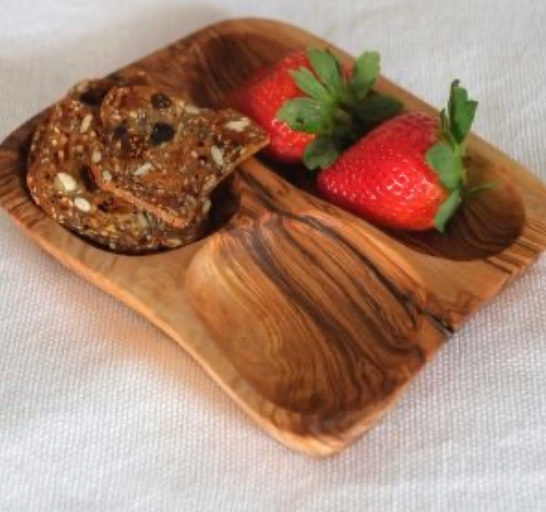 Olive Wood Appetizer Dish