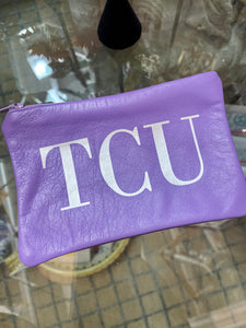 TCU Leather Pouch